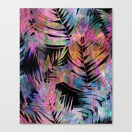 Waikiki Tropic {Black} Canvas Print
