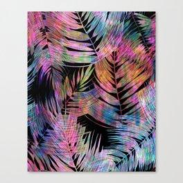 Waikiki Tropic {Black} Canvas Print