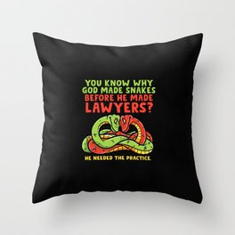 Ophiology Pet Snakes and Reptiles Gift Idea Throw Pillow