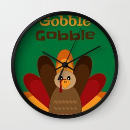 Gobble Me Up! Wall Clock