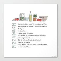 Pizza Dough Canvas Print
