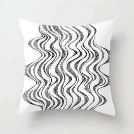 Stippled squiggles Throw Pillow