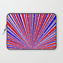 Color Rays Background With Stars Laptop Sleeve