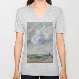 "Gustave Courbet ""Marine, Trouville"" Unisex V-Neck"
