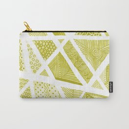 Geometric doodle pattern - yellow and white Carry-All Pouch