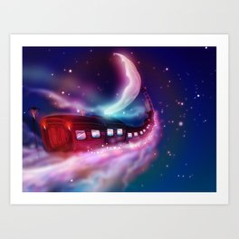 A Trip to the Moon by Locomotive Art Print