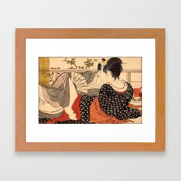 Lovers in an Upstairs Room Framed Art Print