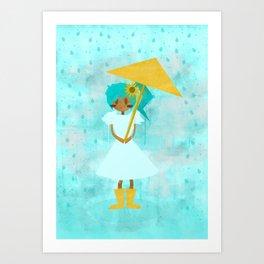 Sunflower Showers Art Print