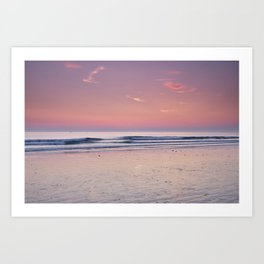 Cadiz. Barrosa Beach At Sunset. Art Print