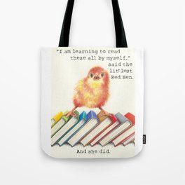 Little Red Hen Reads Tote Bag