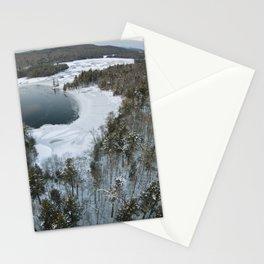 Aerial Photo of 7th Lake Bay - Adirondacks Stationery Cards