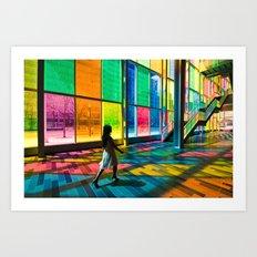 Stepping into a rainbow Art Print
