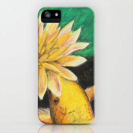 Koi And The Lotus Flower iPhone Case