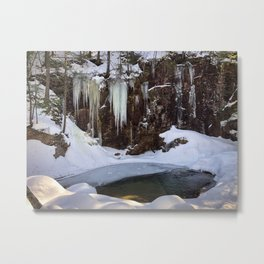 Frozen Sabbaday Falls NH (1) Metal Print