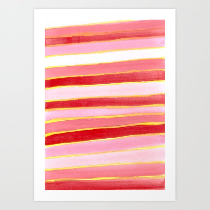 Lines - The colors of chinese year Art Print