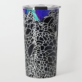 Mountain in black Travel Mug