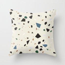 Bluestone Eden Green Black Terrazzo #1 #decor #art #society6 Throw Pillow