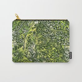 Hawaiian Green Ancient Pattern Carry-All Pouch