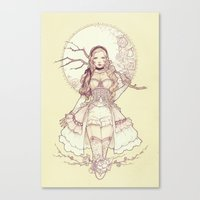 grace Canvas Prints featuring Grace by Jasmin Darnell
