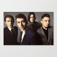 arctic monkeys Canvas Prints featuring Arctic Monkeys by lastminutebinge