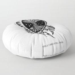 Dreamcatcher Tree of Life- Latins Sayings (Dead Language) Floor Pillow