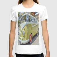 lime green T-shirts featuring Lime Green Camper Van by Cornish Creations