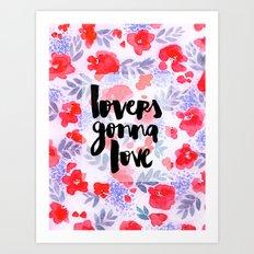Lovers [Collaboration with Jacqueline Maldonado] Art Print