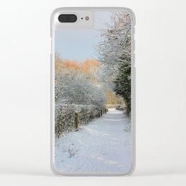 Winter Walkway Clear iPhone Case