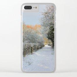 Winter Walkway Clear iPhone Case