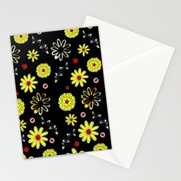 Ladybugs and Yellow Daisies Stationery Cards