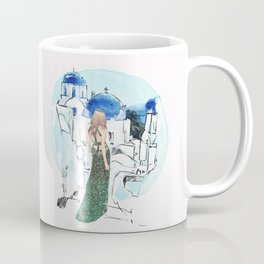 Meet Me In Santorini Coffee Mug