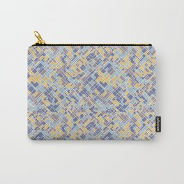 Abstract square pattern Carry-All Pouch