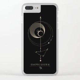 Capricorn Zodiac Constellation Clear iPhone Case