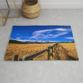 Distant Bighorns - Mountain Scenery in Northern Wyoming Rug