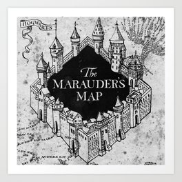 Marauders Map Art Print