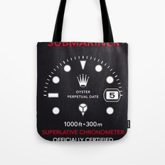 Submariner Chronometer Swiss Watches Tote Bag