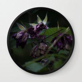 Magenta Flowers Wall Clock
