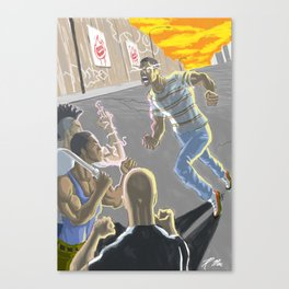 Going at Haters Canvas Print