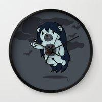 marceline Wall Clocks featuring Marceline Abeardeer by pepemaracas