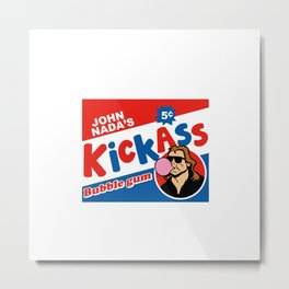 Kickass bubble gum Metal Print