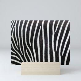 Close-up view of zebra stripes Mini Art Print