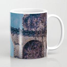 Mountain Waterfall Bridge (Color) Coffee Mug