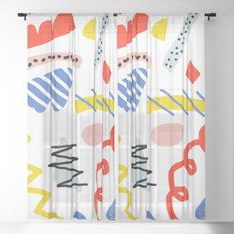 Memphis Zazzle Sheer Curtain