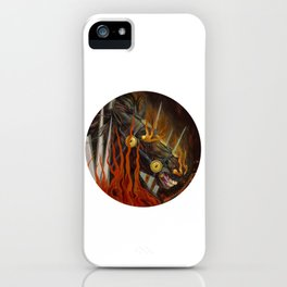 Horse in fire painting iPhone Case