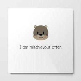 Mischievous Otter Metal Print