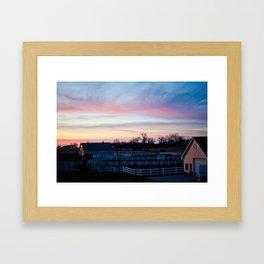 Sunset in Minnesota Framed Art Print