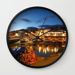 Fishing harbour Wall Clock