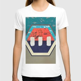 Stitch in Time - hexagon graphic T-shirt