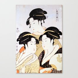 Three Beauties of the Present Day Canvas Print