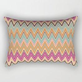 Seamless chevron zigzag pattern geometrical background Rectangular Pillow